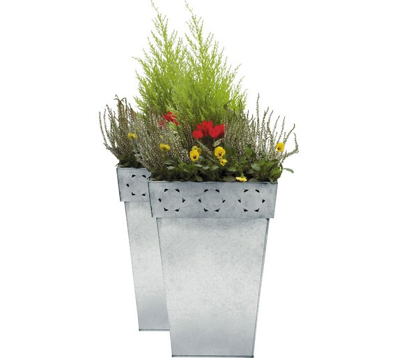 Buy Zinc Patterned Planters - Twin Pack | Garden pots and planters Zinc Planters Argos on pewter planters, copper finish planters, stone planters, large planters, lead planters, iron planters, tall planters, corrugated raised planters, long rectangular planters, plastic planters, window boxes planters, chrome planters, stainless steel planters, wall mounted planters, resin planters, round corrugated planters, aluminum planters, bucket planters, old planters, urn planters,