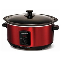 Morphy Richards 3.5L Sear and Stew Slow Cooker - Red