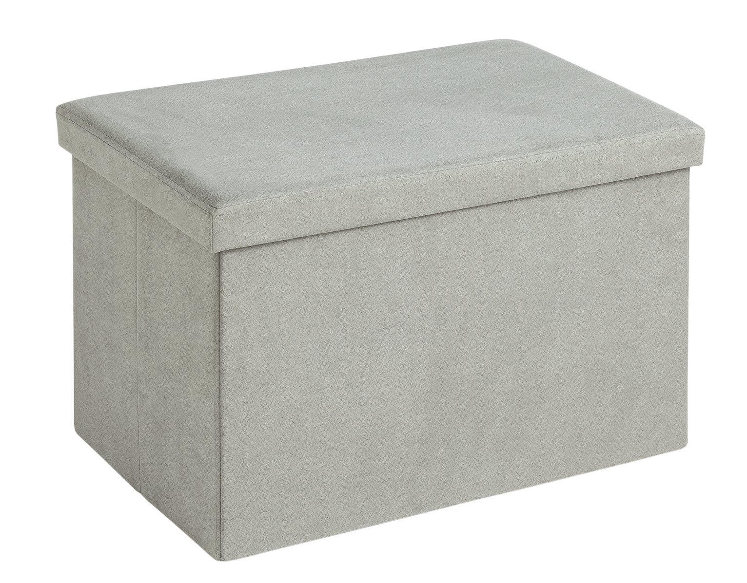 Large Fabric Ottoman - Grey