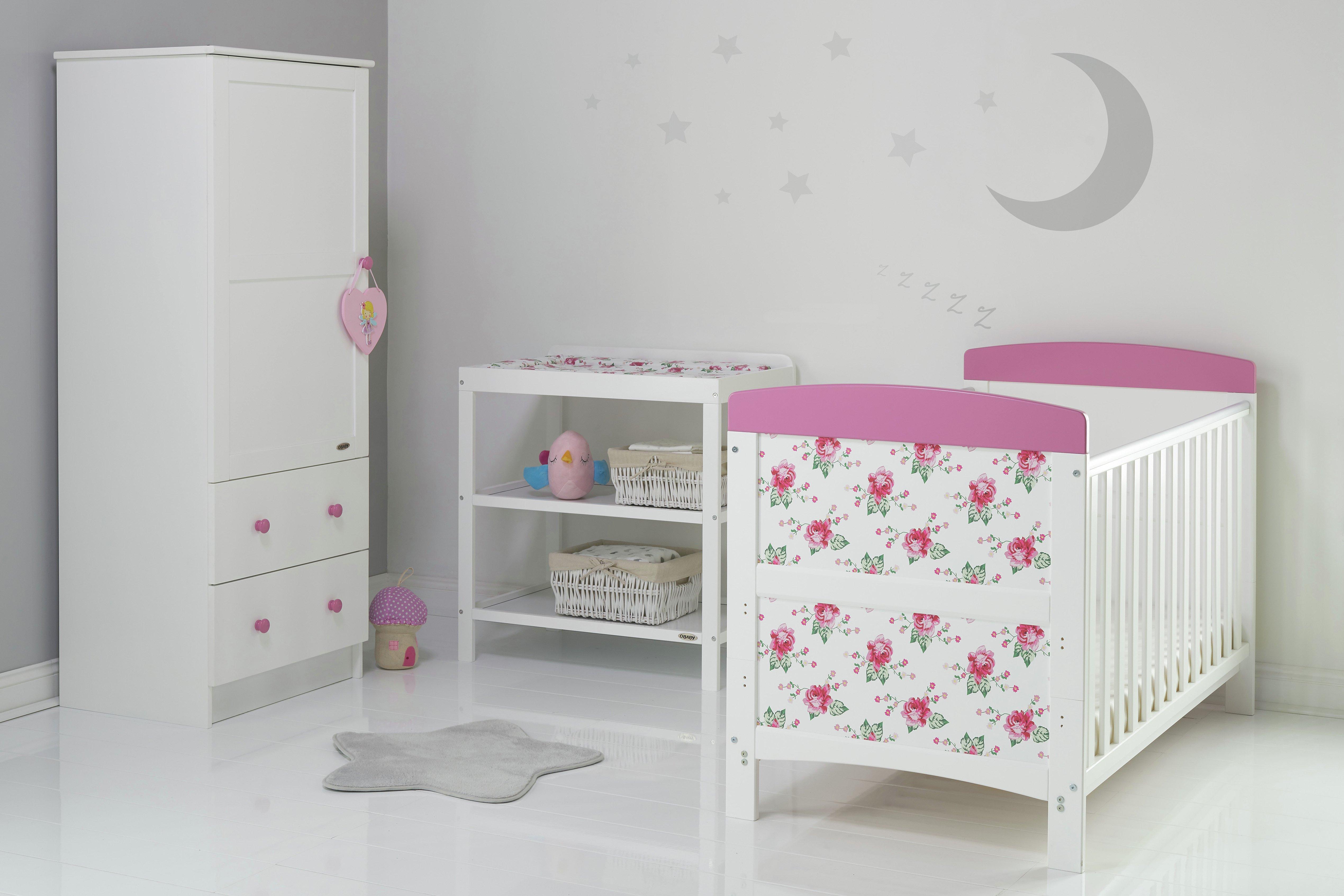 Image of Obaby Grace Inspire 3 Piece Room Set - Cottage Rose