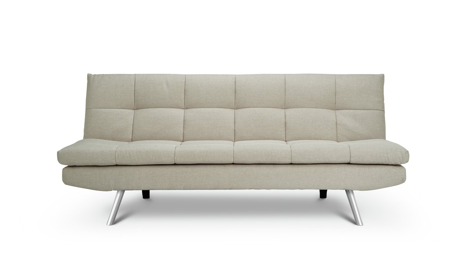 collection renley 4 seater fabric sofa light grey for. Black Bedroom Furniture Sets. Home Design Ideas