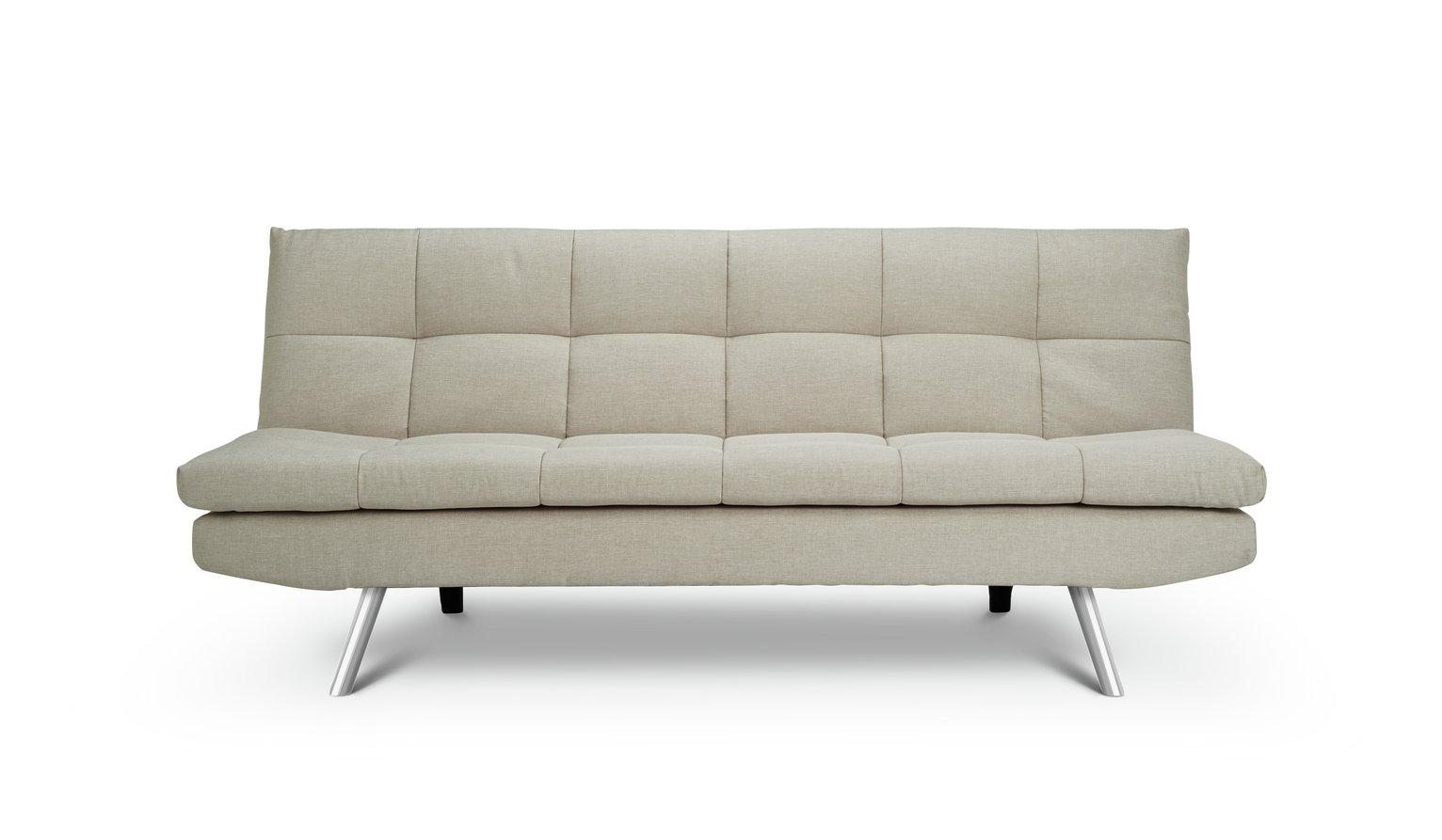 Argos Home Nolan 3 Seater Fabric Sofa Bed - Natural