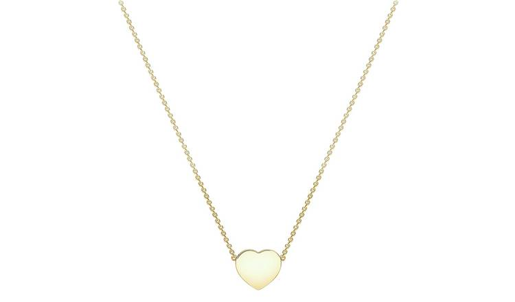 9ct Yellow Gold Personalised Heart Pendant