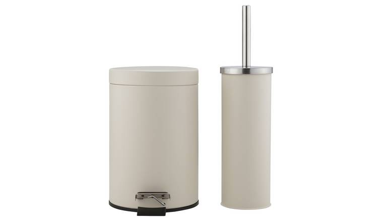 Buy Argos Home Slow Close Bin and Toilet Brush Set - Cream ...
