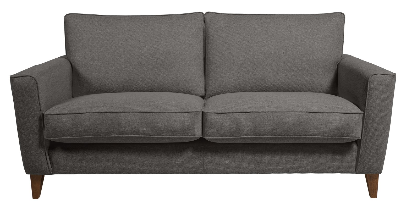 Argos Home Aspen 3 Seater Fabric Sofa - Charcoal