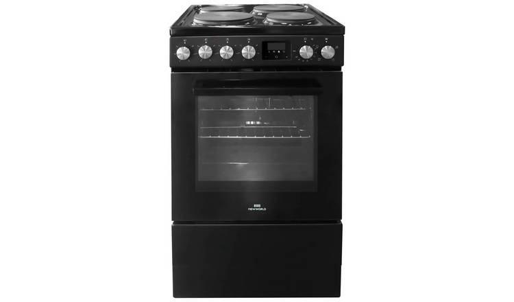 New World NWLS50SEB 50cm Single Oven Electric Cooker - Black