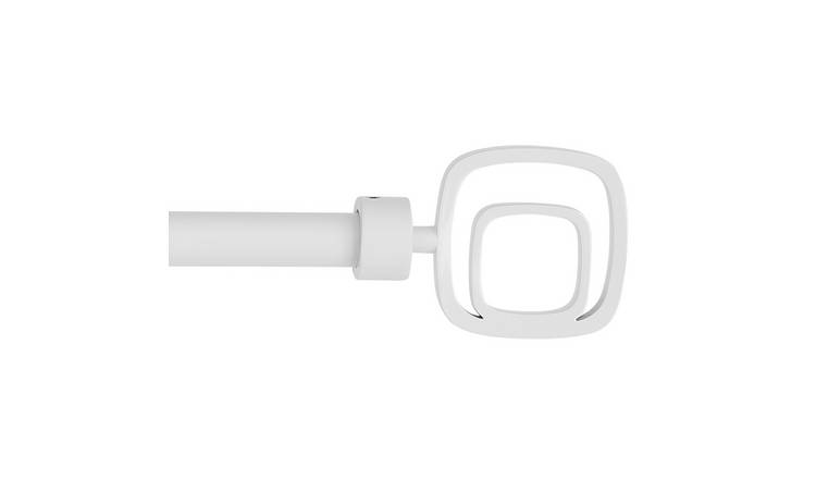 Argos Home Swirl 110-210cm Metal Curtain Pole - White