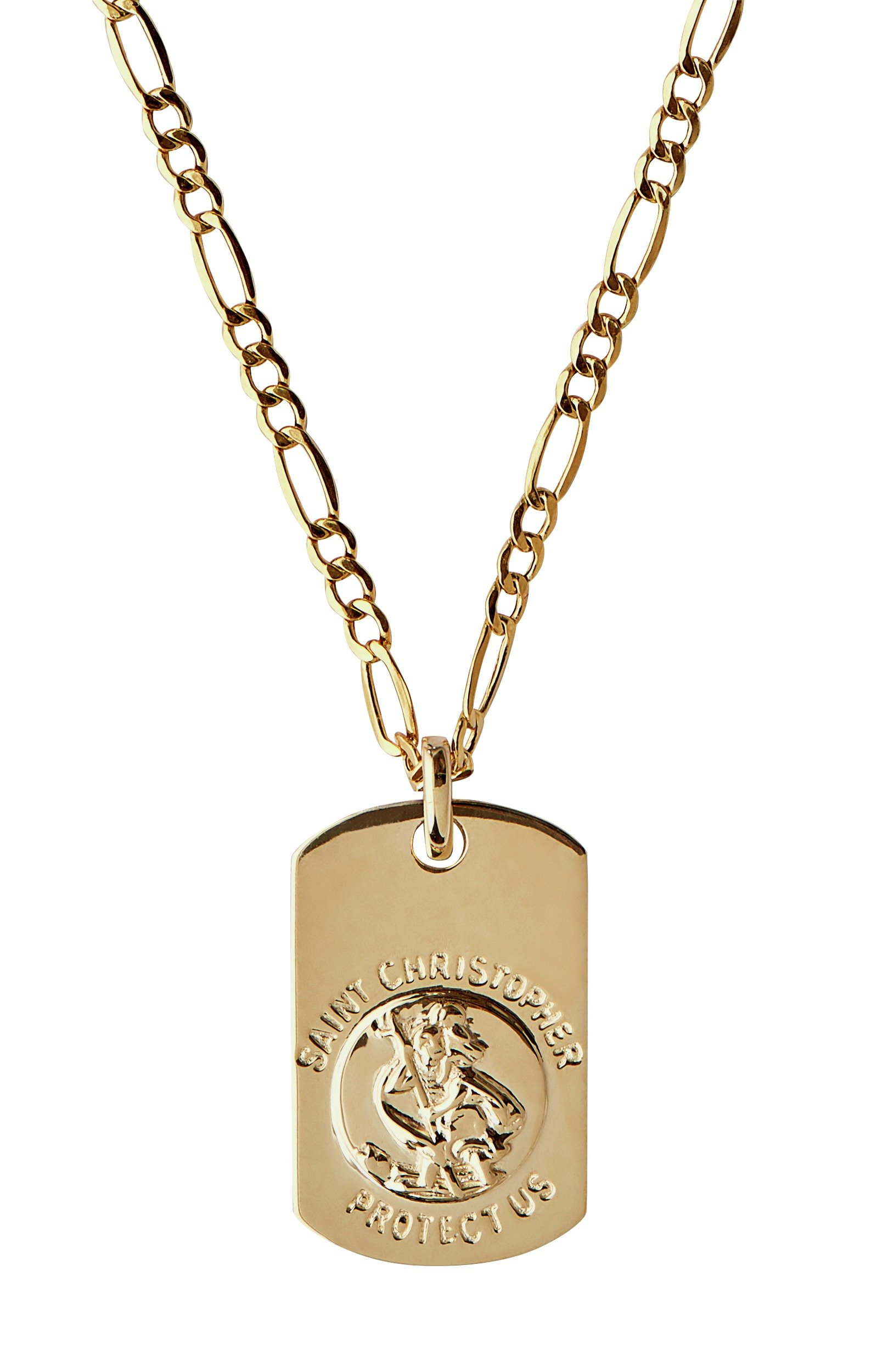 Image of Domain 9ct Gold St. Christopher Dog Tag Pendant