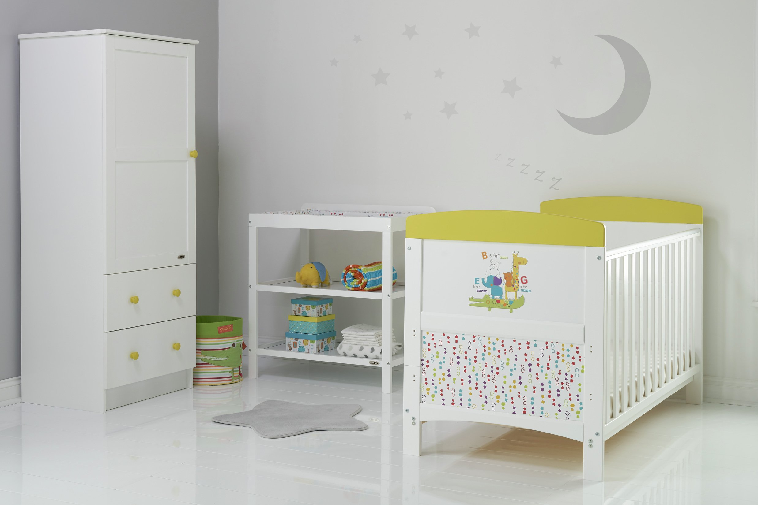Obaby Grace Inspire 3 Piece Room Set - B is for Bear Safari
