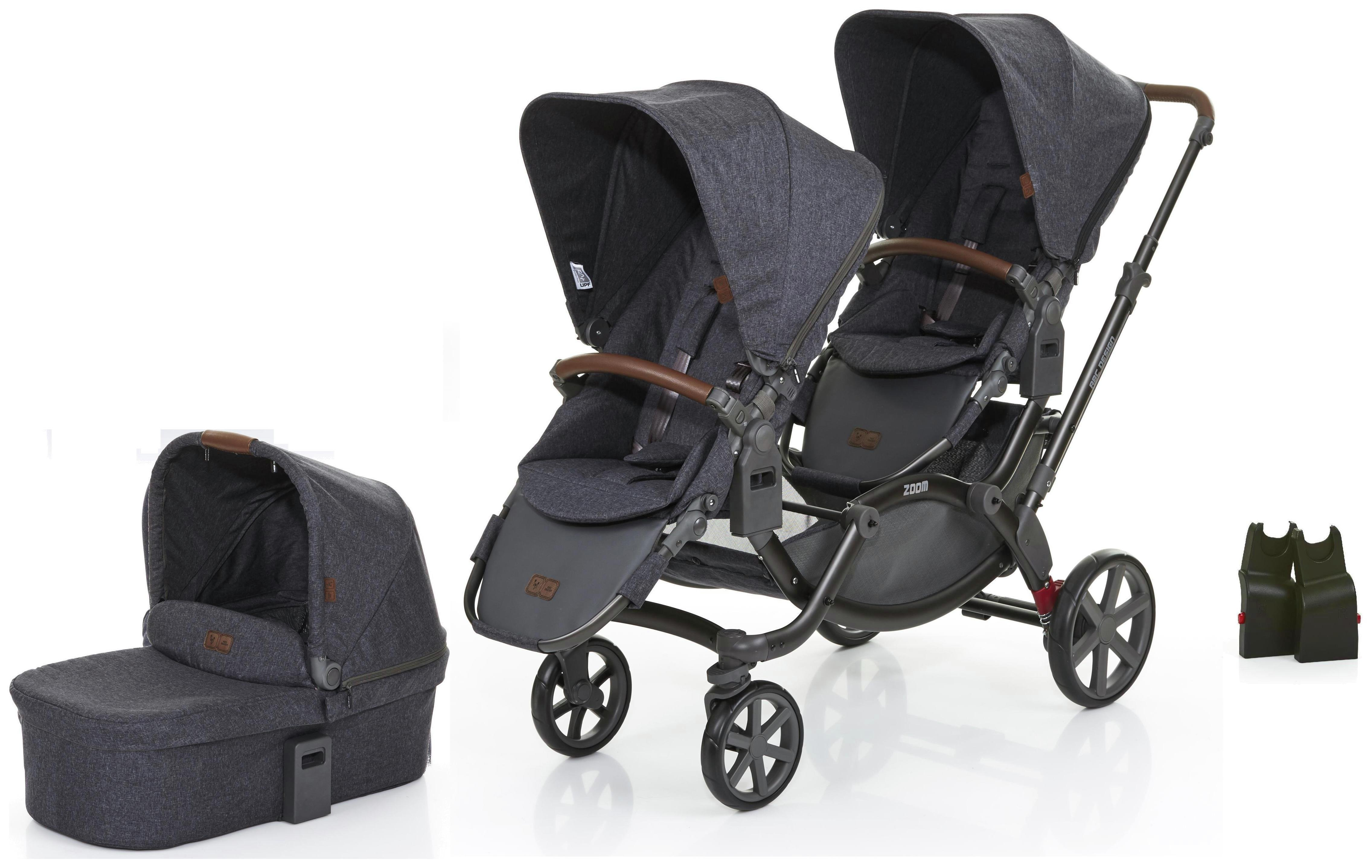 Image of ABC Design Zoom Tandem, Carrycot & 1 Car Seat Adaptors