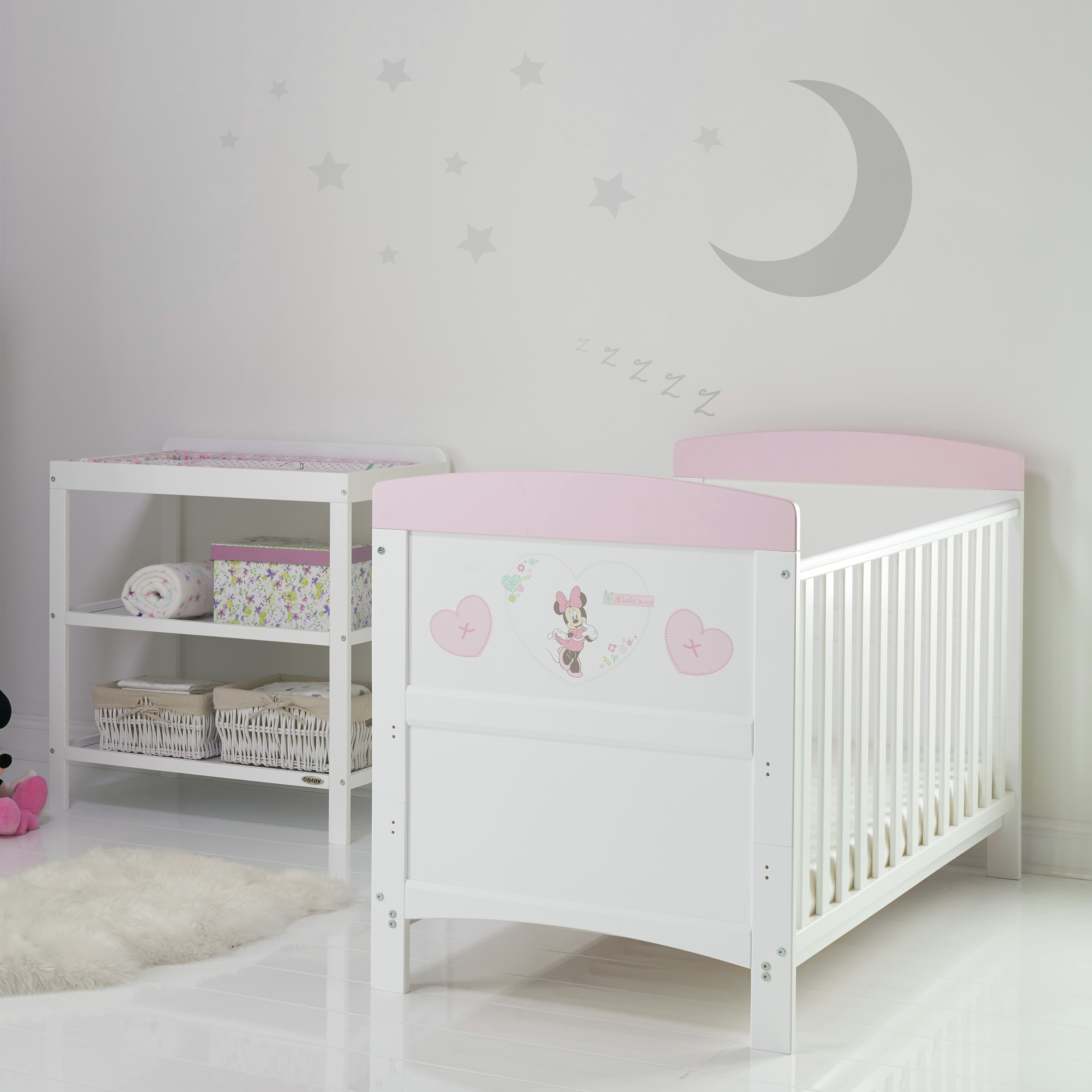 Image of Disney Minnie Mouse 2 Piece Room Set - Hearts