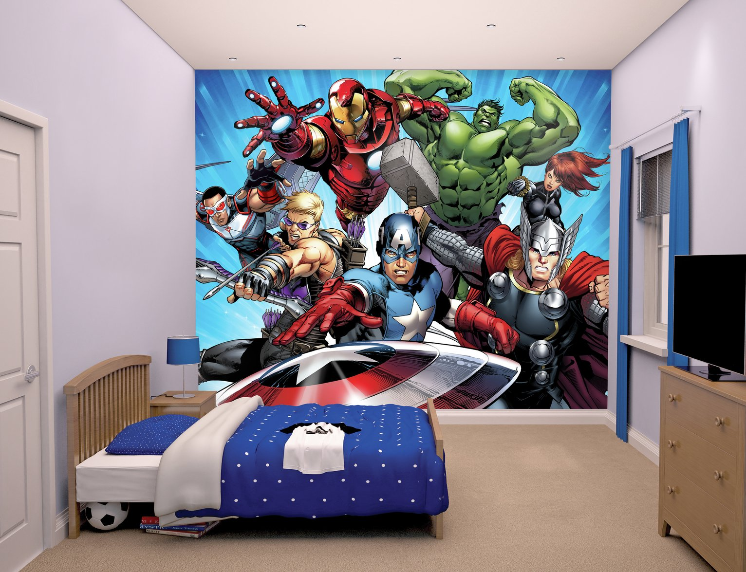 walltastic avengers wall mural.