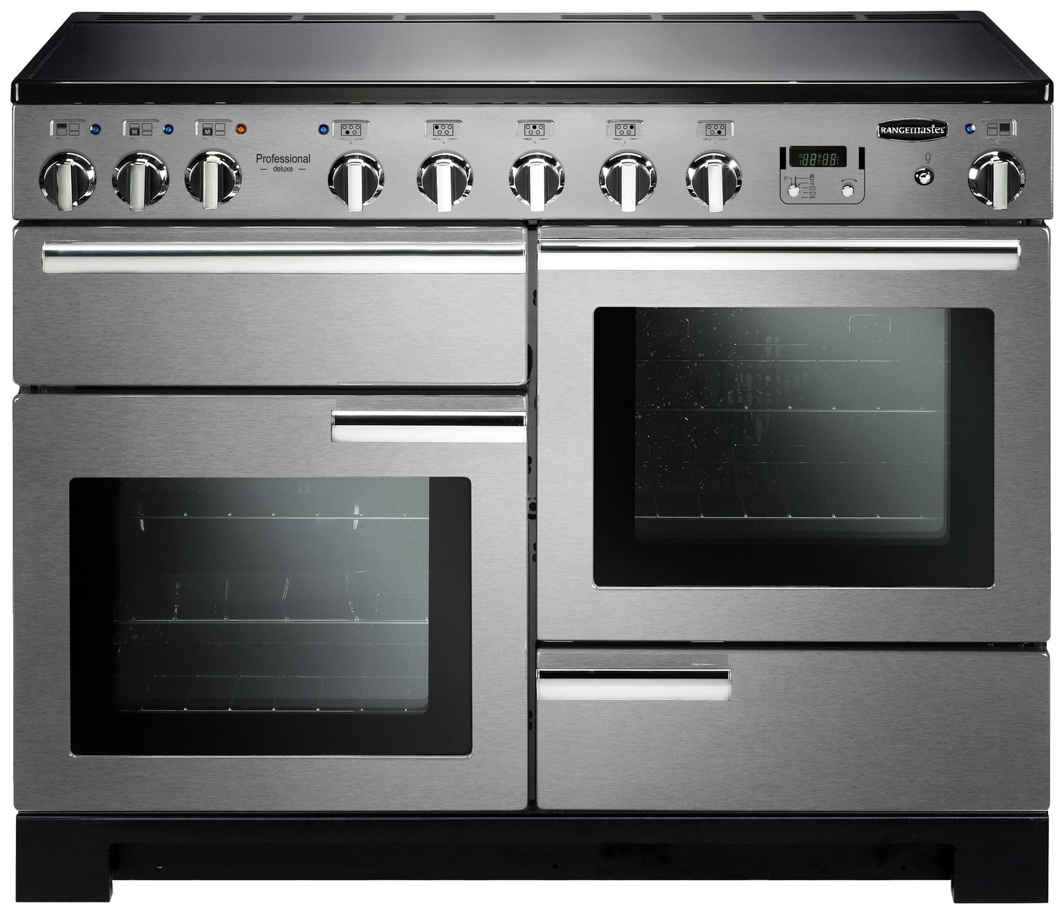 Image of Rangemaster Professional Deluxe 110cm Range Cooker - S/Steel