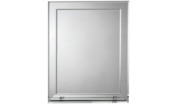 Croydex Rydal Double Layer Wall Mirror with Shelf