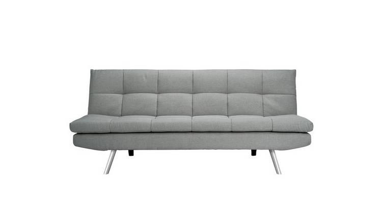 Buy Argos Home Nolan 3 Seater Fabric Sofa Bed - Light Grey | Sofa beds |  Argos