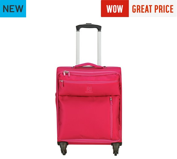 Buy Revelation! Weightless Small 4 Wheel Soft Suitcase - Pink at ...
