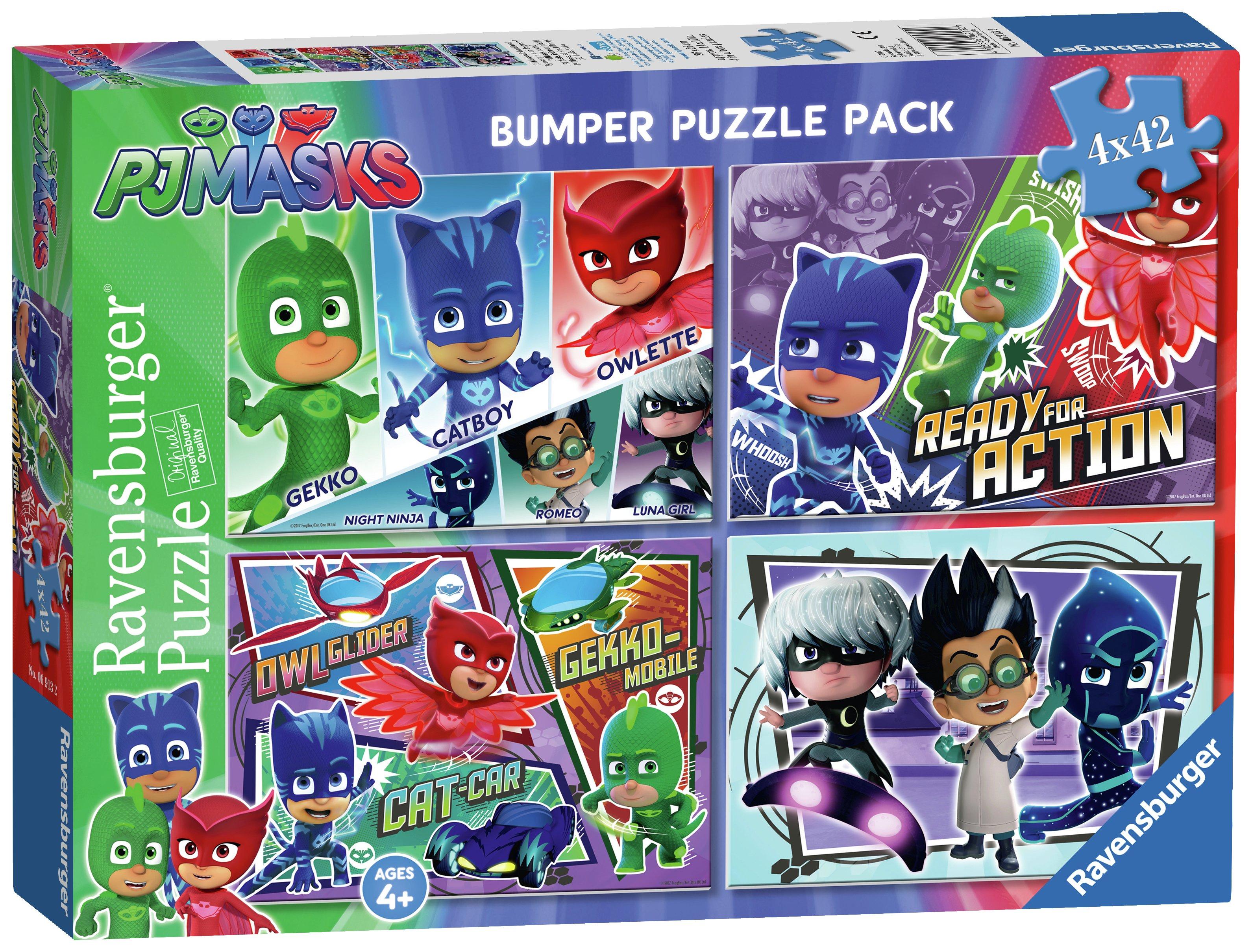 PJ Masks 42 Piece Jigsaw Puzzle - 4 Pack.