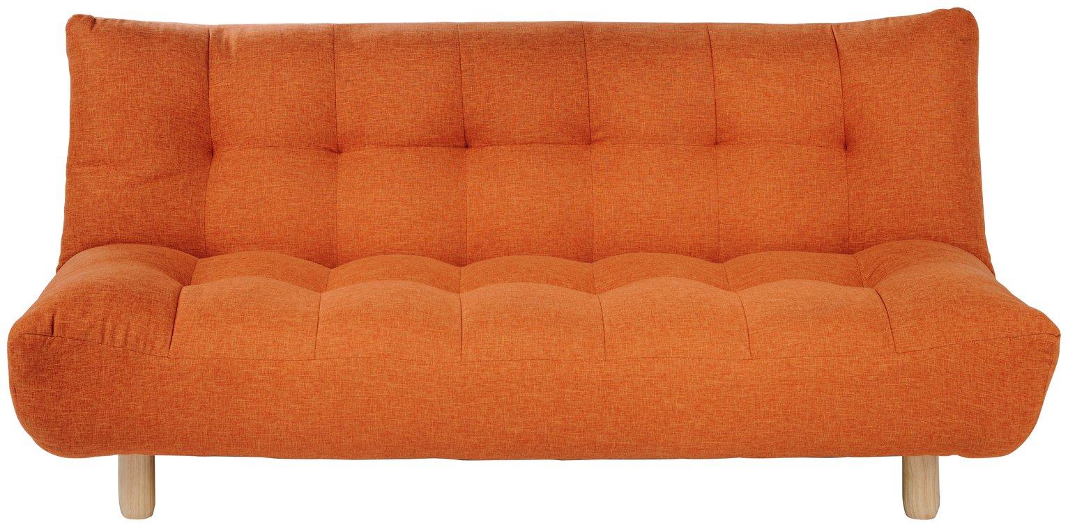 Habitat Kota 3 Seater Fabric Sofa Bed - Orange