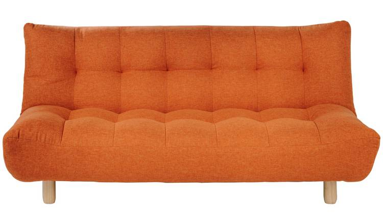Wondrous Buy Habitat Kota 3 Seater Fabric Sofa Bed Orange Sofa Beds Argos Caraccident5 Cool Chair Designs And Ideas Caraccident5Info
