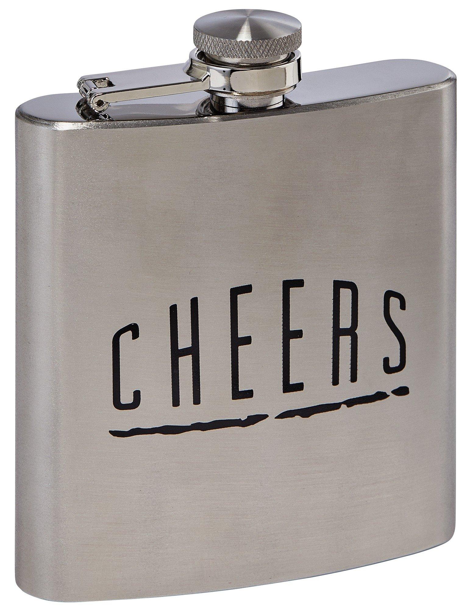 Scott & Lawson 6oz Stainless Steel Hip Flask