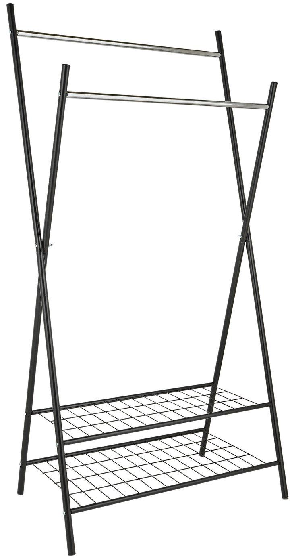 Argos Home X-Frame Clothes Rail with Shelves - Black