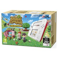 Nintendo 2DS Red and White Console Animal Crossing