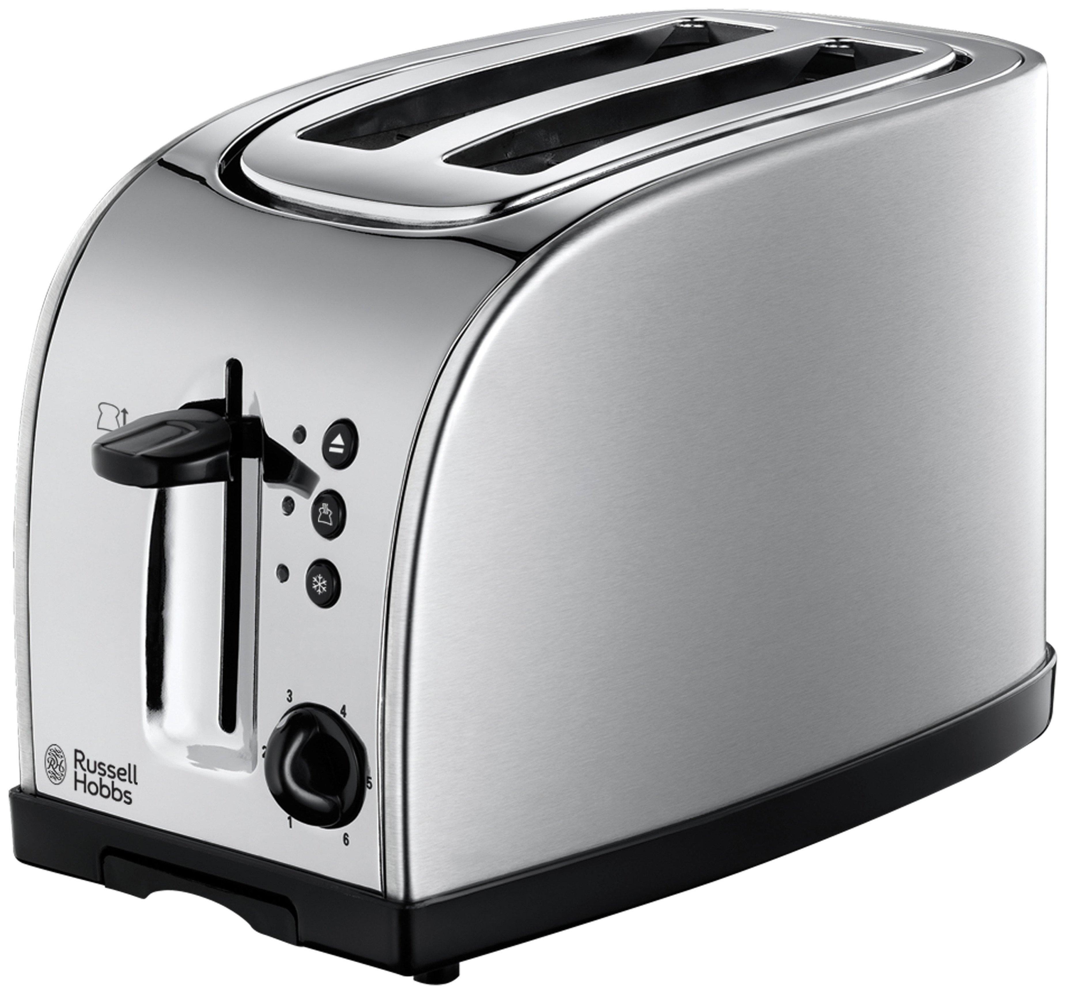 Russell Hobbs 18096 Texas Wide Slot 2 Slice Toaster - Steel