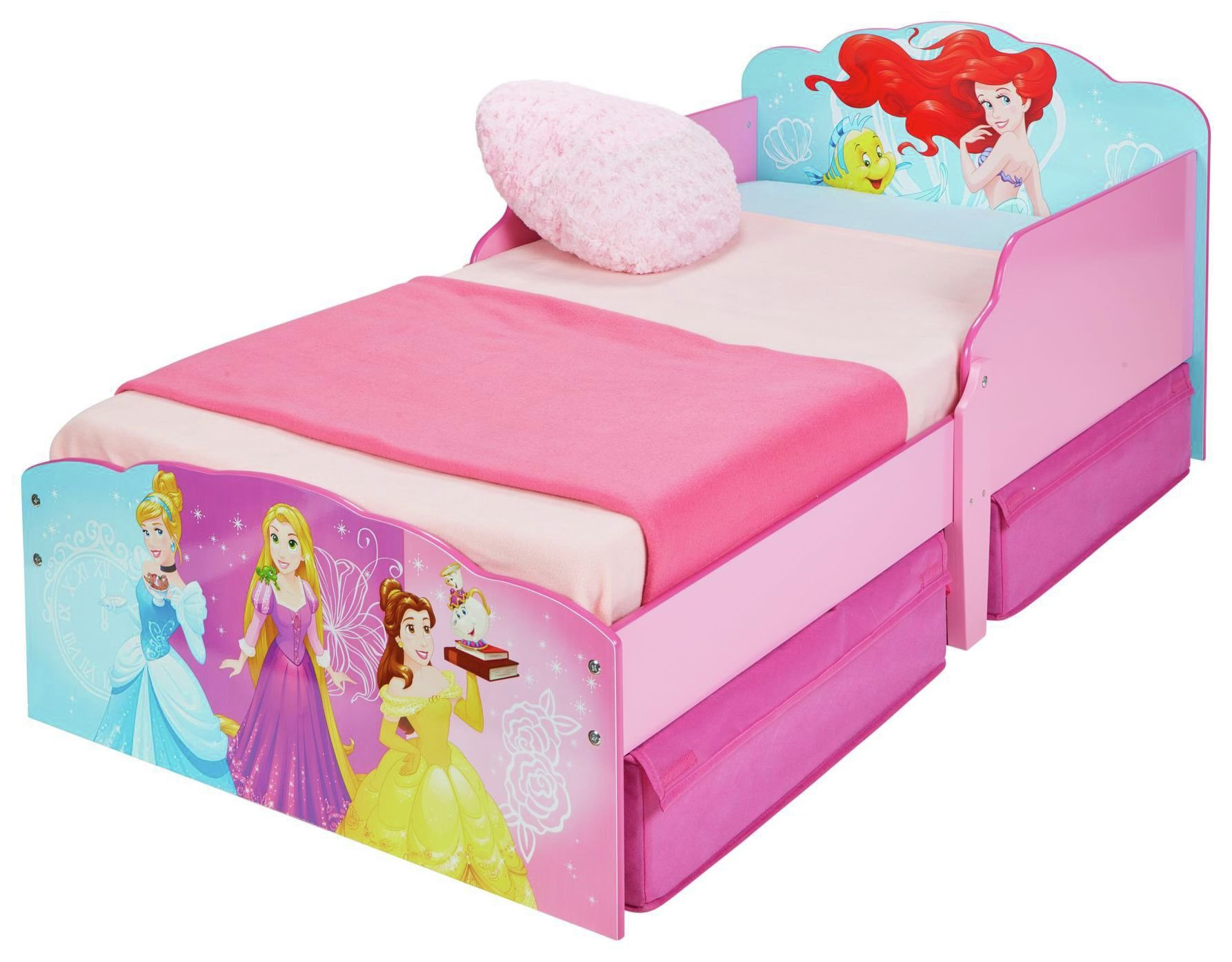 Disney New Princess Toddler Bed with Drawer.