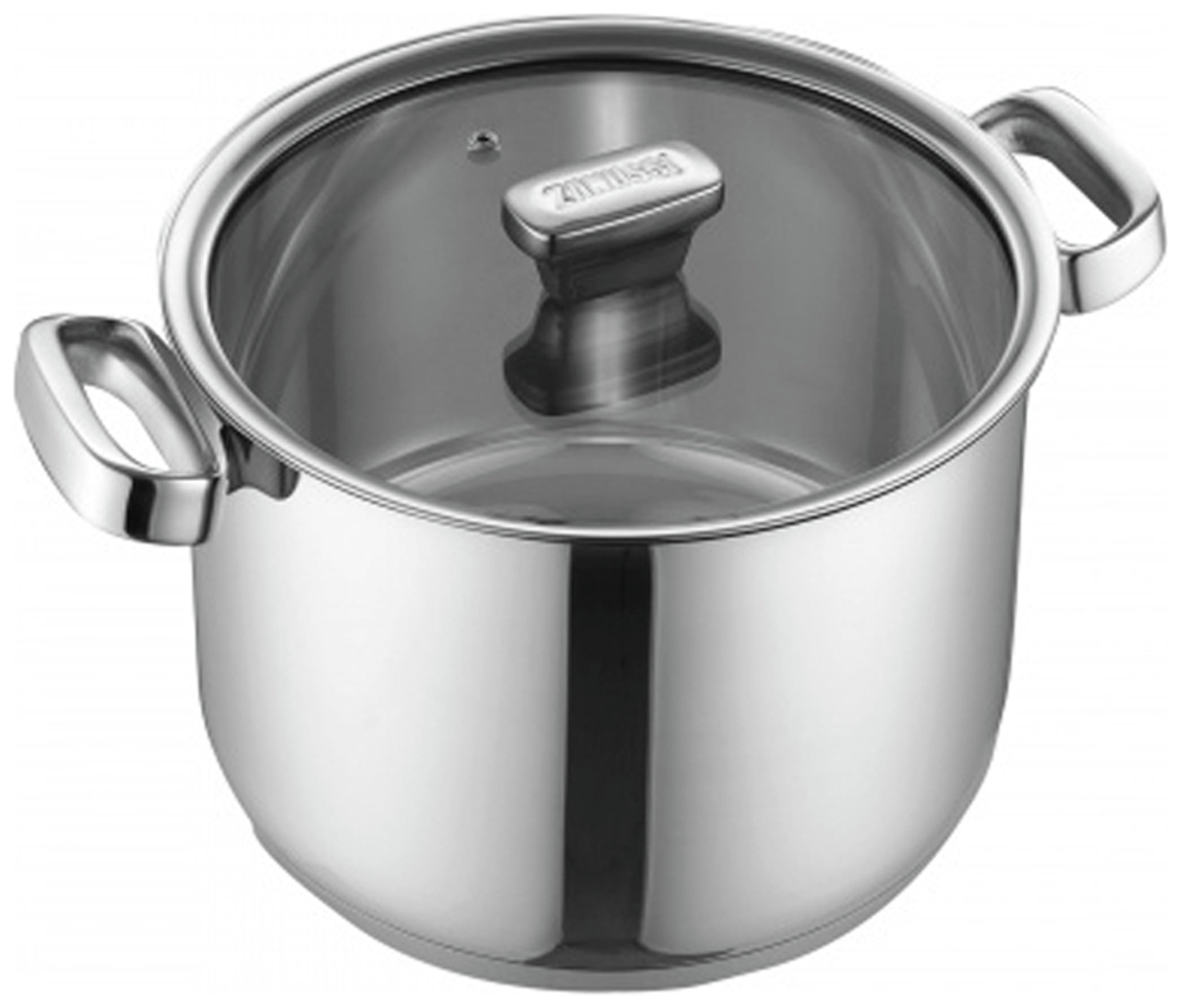 Zanussi Positano 24cm Stainless Steel Stock Pot with Lid