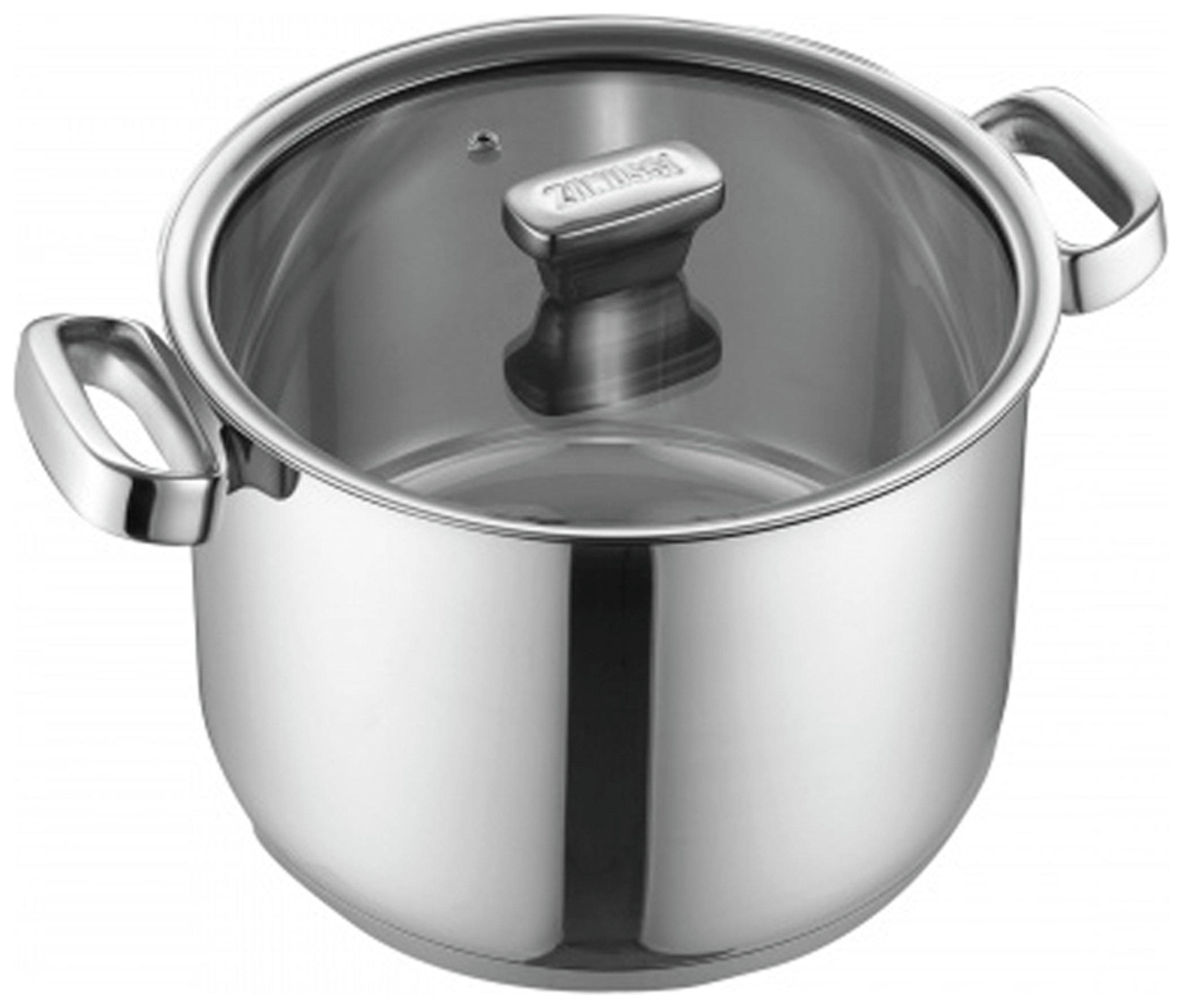 Zanussi Positano 24cm Stainless Steel Stock Pot with Lid