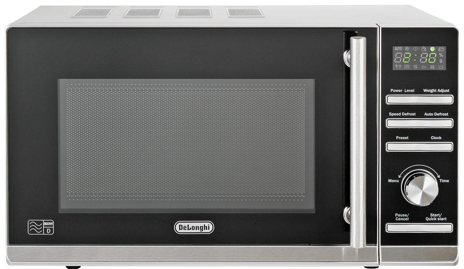 De'Longhi Standard Microwave P80ZVA - Silver