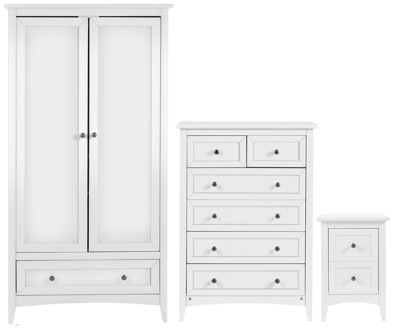 Image of Collection Camborne 3 Piece Package - White