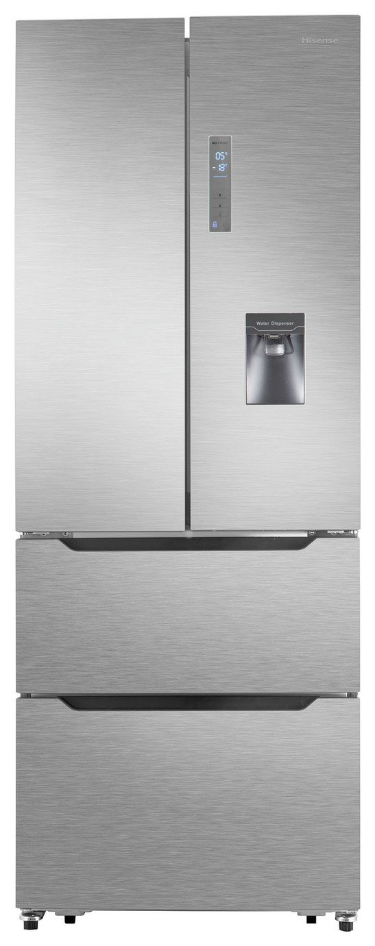 Hisense RF528N4WC1 American Fridge Freezer - Stainless Steel
