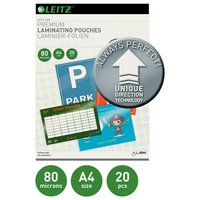 Leitz A4 80 Microns Laminating Pouches - 20 pack.