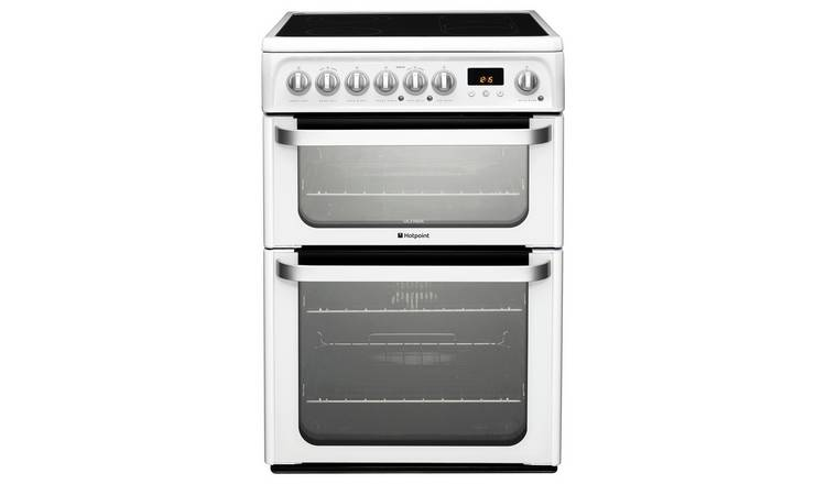 Hotpoint HUE61PS 60cm Double Oven Electric Cooker - White