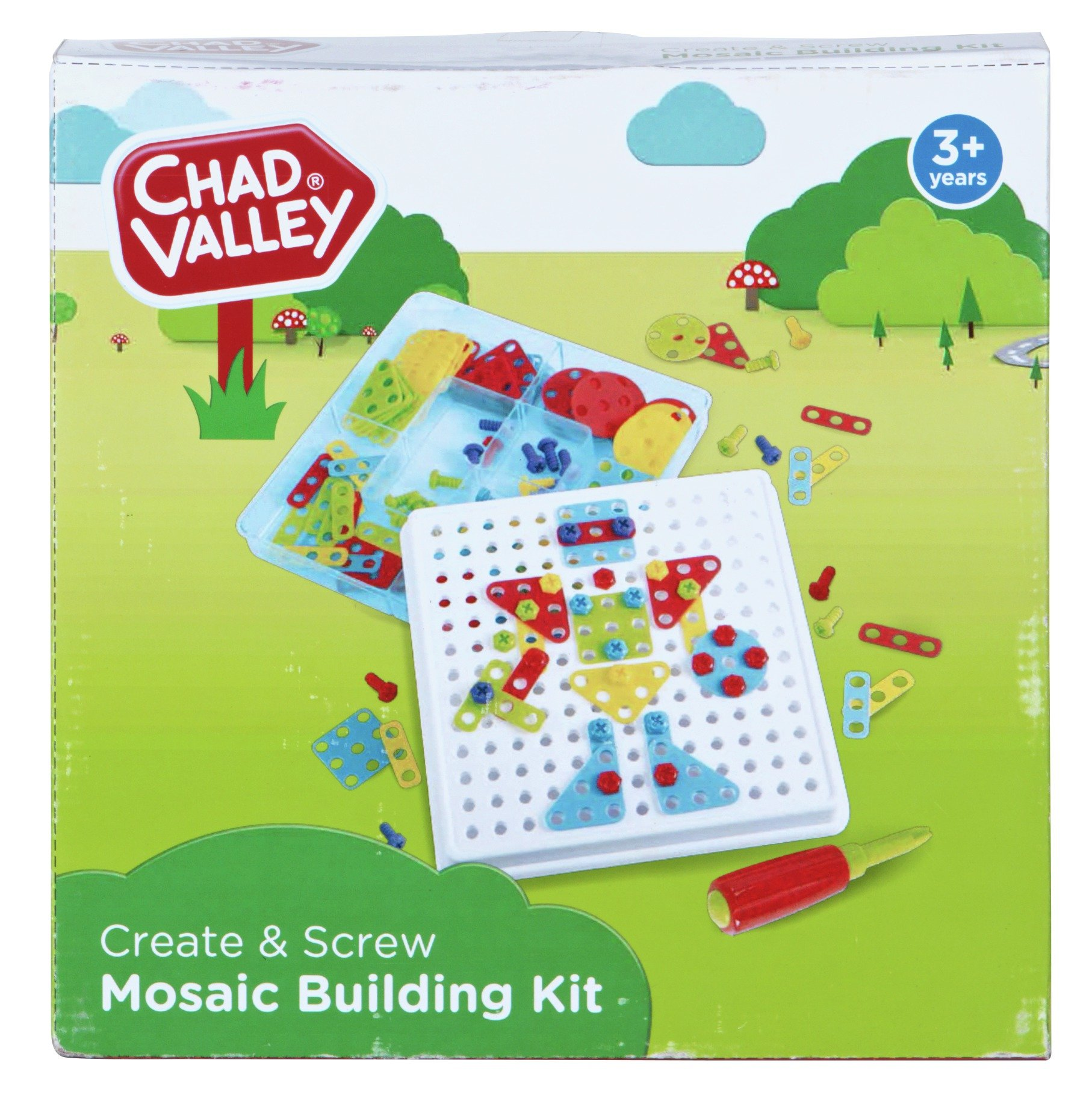 Chad Valley PlaySmart Create & Screw Mosaic Building Kit