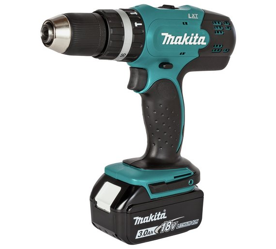 makita lxt 18v 3ah cordless combi drill with 101 accessories driving in screws ebay. Black Bedroom Furniture Sets. Home Design Ideas