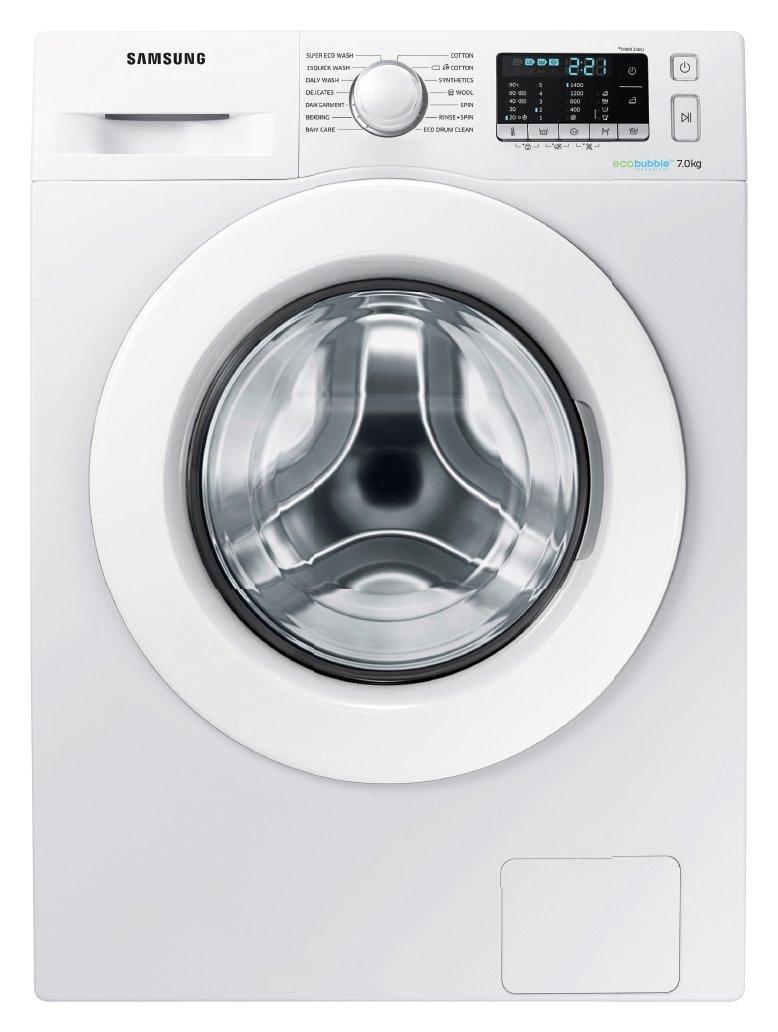 Image of Samsung WW70J5555MW 1400 Spin 7KG Washing Machine White Del/Ins/Rec