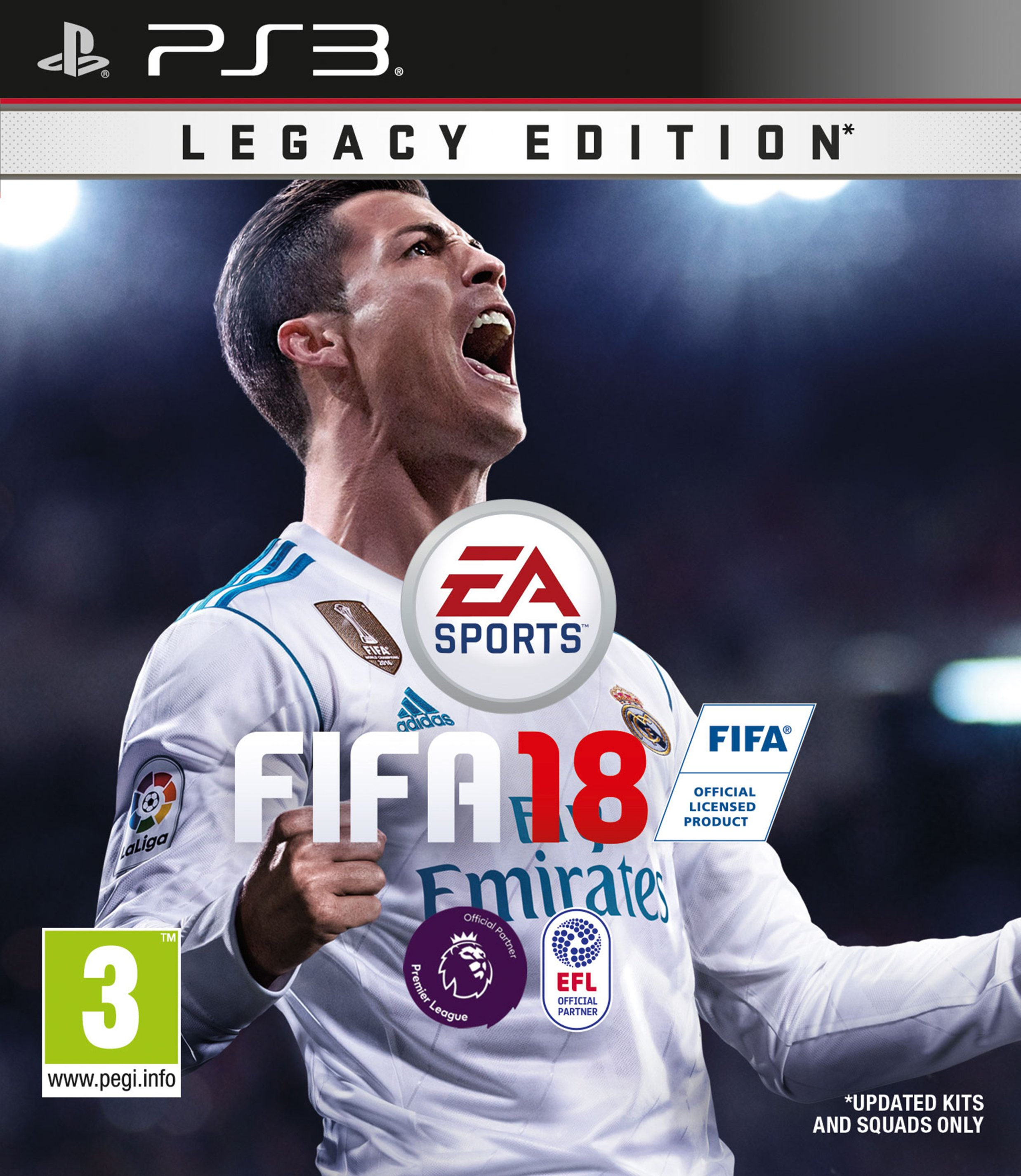 Image of FIFA 18 PS3 Game.
