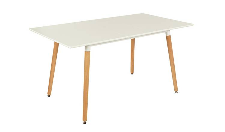 Argos Home Charlie Extending 4-6 Seater Dining Table -White