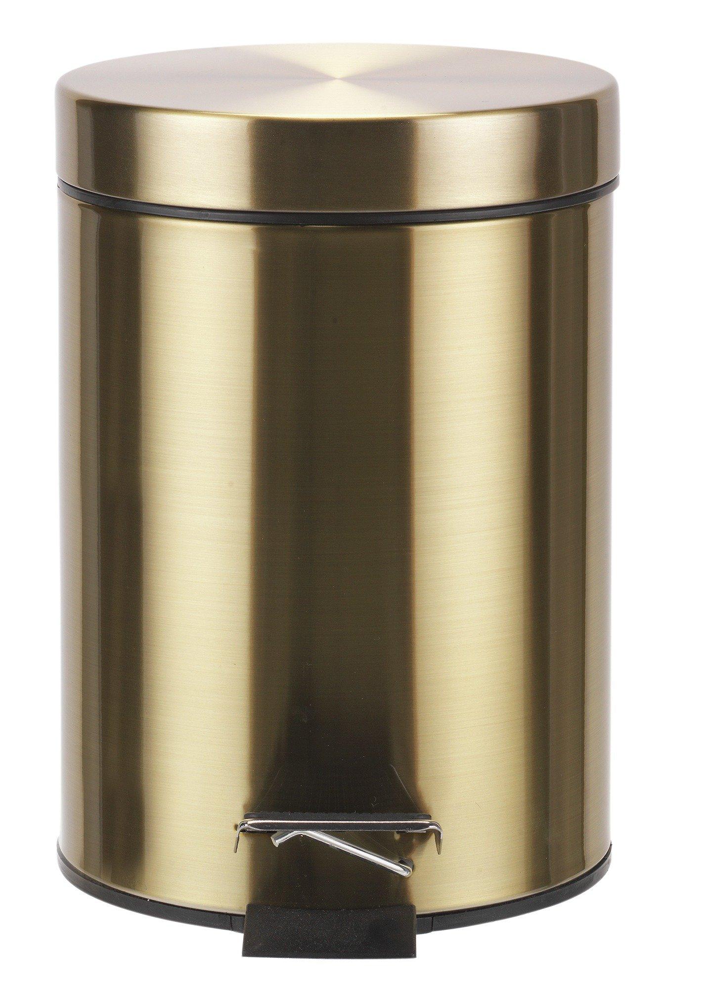 Pedal bins designer homeware for Gold bathroom bin