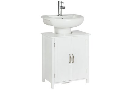 Collection Tongue and Groove Undersink Storage Unit - White