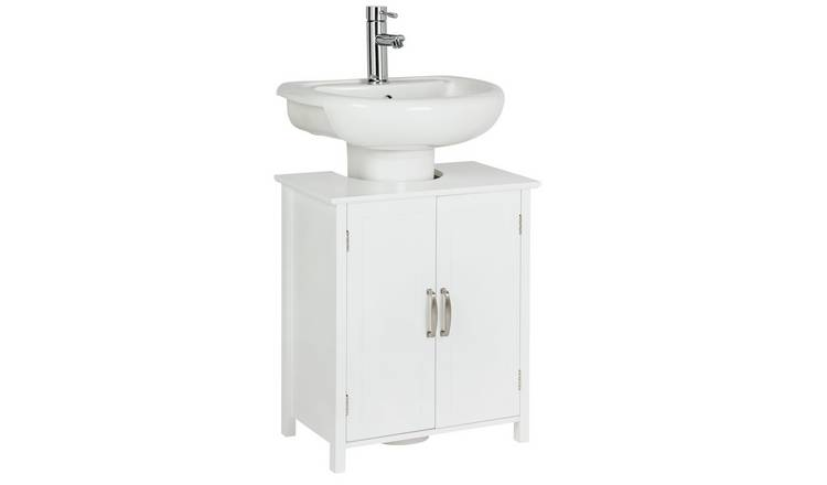 Pleasing Buy Argos Home Tongue And Groove Undersink Storage Unit White Bathroom Shelves And Storage Units Argos Home Interior And Landscaping Ologienasavecom