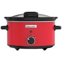 Crock-Pot 3.5L Hinged Lid Red Slow Cooker