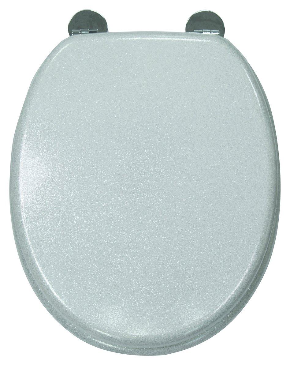 Croydex Quartz Flexi-Fix Toilet Seat - Silver