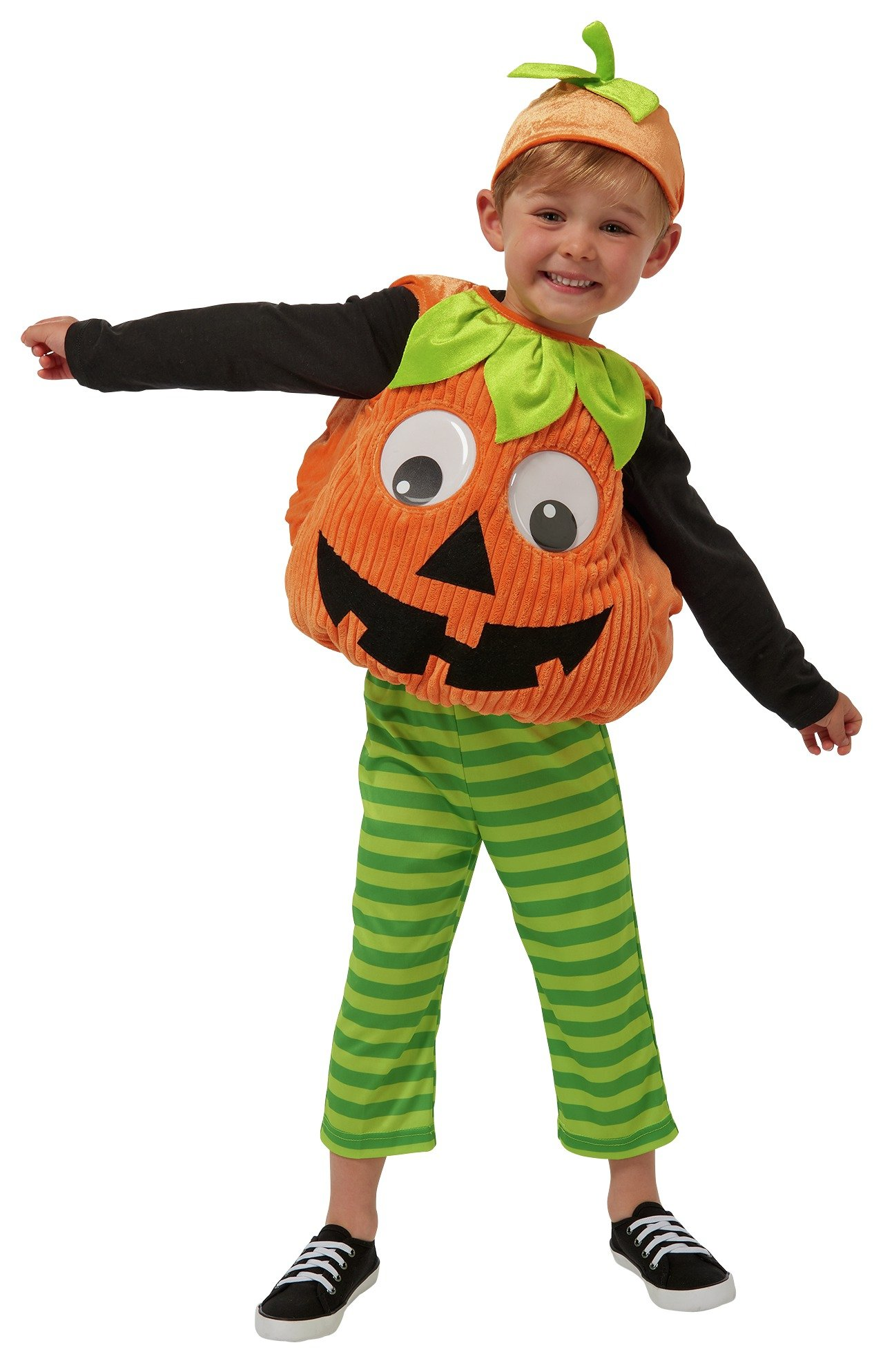toddler pumpkin with hat fancy dress costume  912 months.