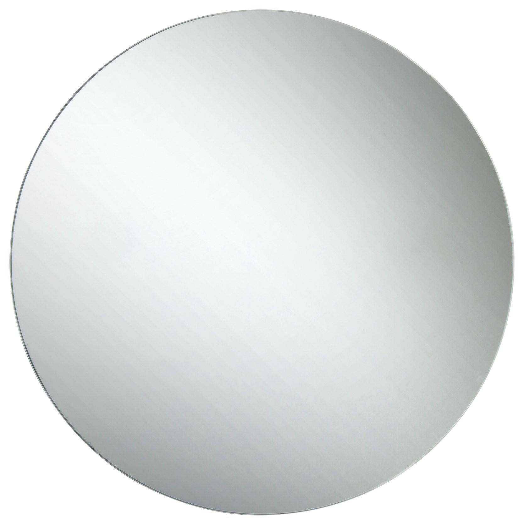 Image of Croydex Severn Round Stainless Steel Mirrored Door Cabinet