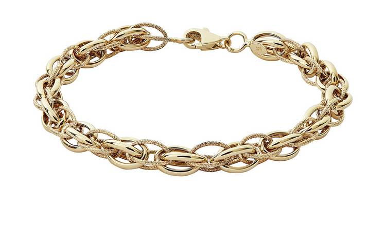 Revere 9ct Yellow Gold Elegant Oval Belcher Bracelet
