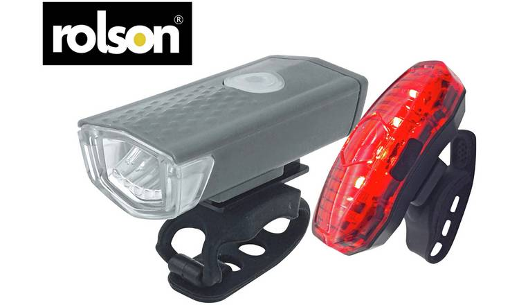 Rolson USB Rechargeable Front and Rear Bike Light Set