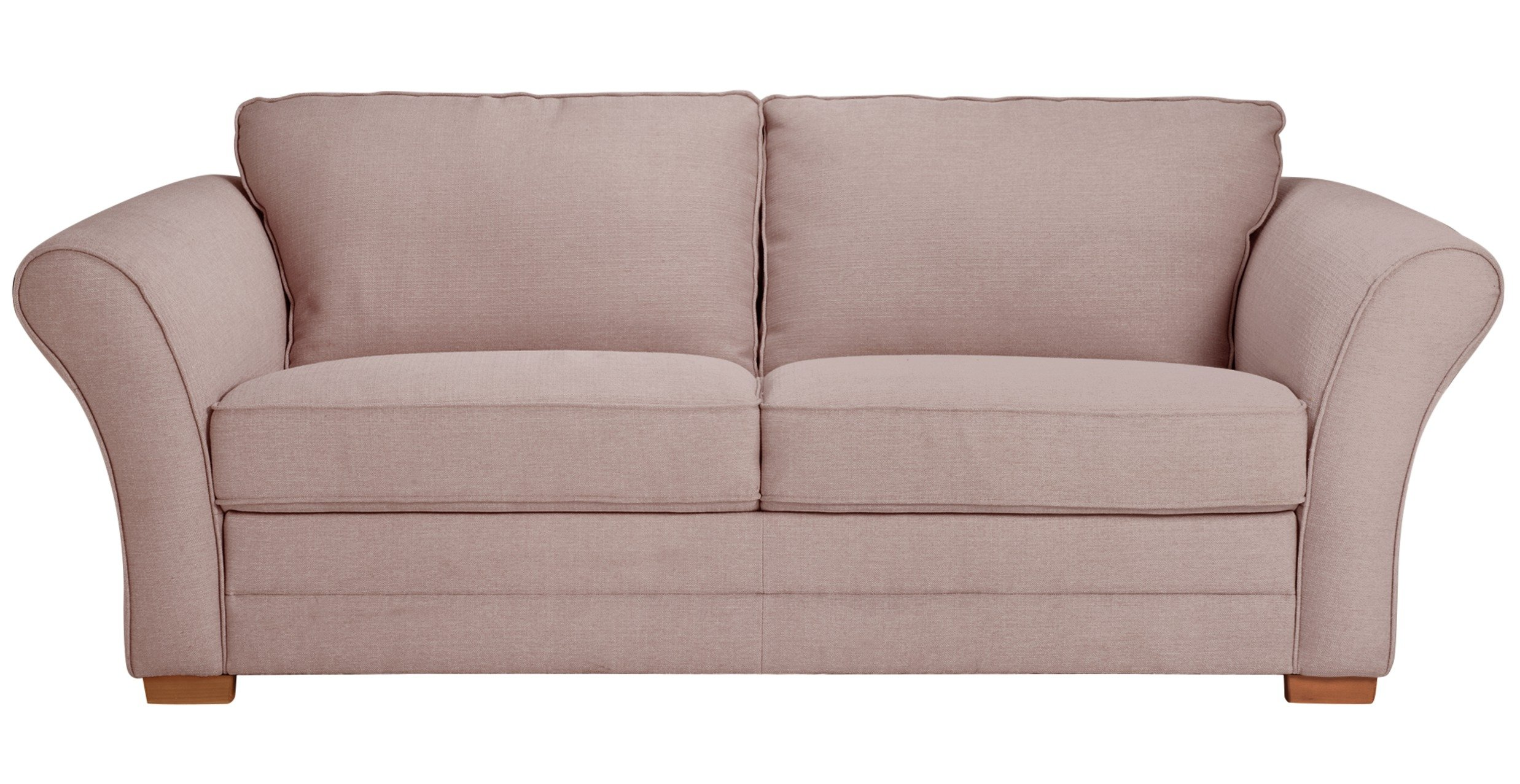 Argos Home Thornton 3 Seater Fabric Sofa Bed - Old Rose